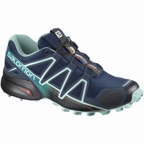 Salomon SPEEDCROSS 4 WIDE W - Terrengløpesko Dame - Marineblå/Svart | ZJGTUC27