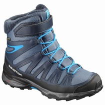 Salomon X-ULTRA WINTER GTX® J - Vintersko Barn - Marineblå/Svart | YUABXL78